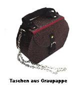 Handtasche aus Graupappe