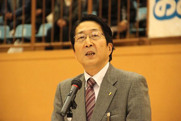 来賓挨拶 吉田典之 上毛新聞社東毛総局長