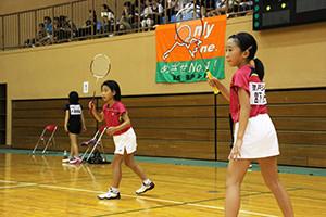 準優勝の山路(左)・宮下ペア(強戸ジュニア)