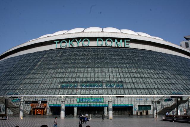 試合が行われる東京ドーム