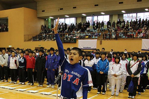 選手宣誓 OSA選抜軟式野球部 豊島和樹主将