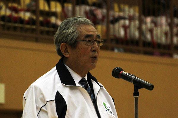 閉会宣言 山口定見 太田市体育協会長