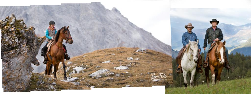 RossFoto Dana Krimmling; Wanderreiten Alpen; westernreiten; Pferdefotografie; fotografie; Wanderreiten; westernreiten; Schweiz;  San Jon