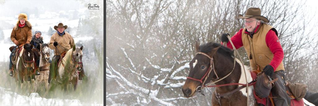 RossFoto Dana Krimmling wanderreiten reiten schnee winter reiter kalt kälte