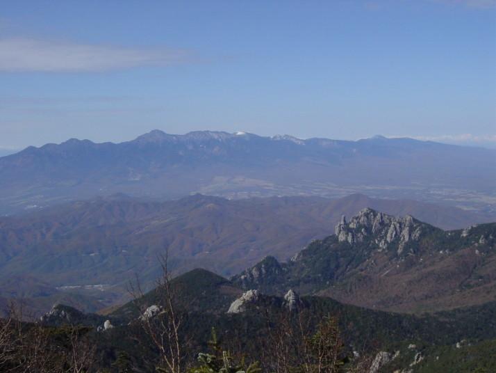 金峰山から望む