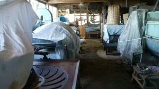 茶工場の機械たちは一年間休眠します。