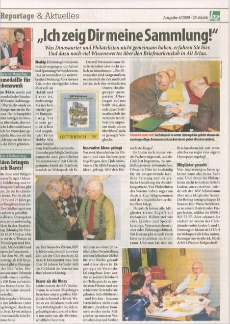 Zeitungsartikel 25.2.2009