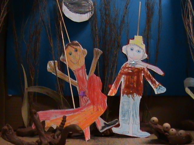 Papiertheater- im Rahmen des Puppet Portal Projects (www.helium.ie)