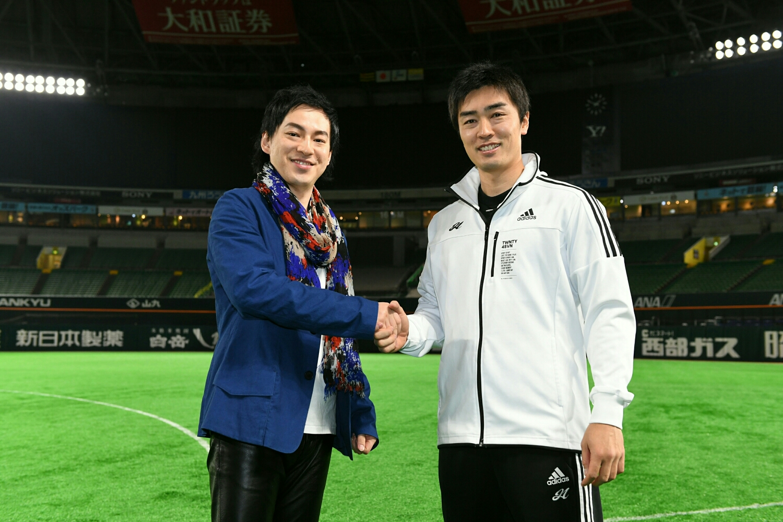 福岡ヤフオク!ドームにて和田毅投手と対談