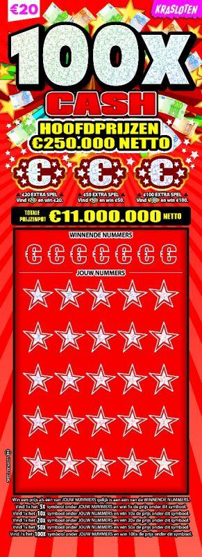 100x cash - €20
