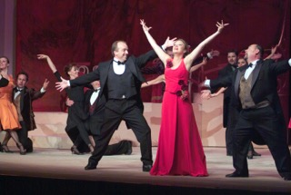 Muriel tijdens de uitvoering Chardas Fürstin