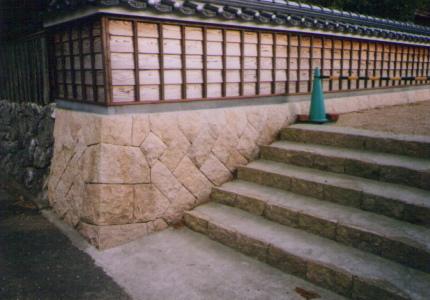美祢市 個人宅 中国産 御影石(サビ石)_05