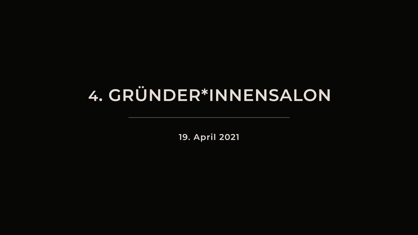 """4. GRÜNDER*INNENSALON """"Kunstgeschichte 5.0 - Digitalisierung und Selbstständigkeit"""""""