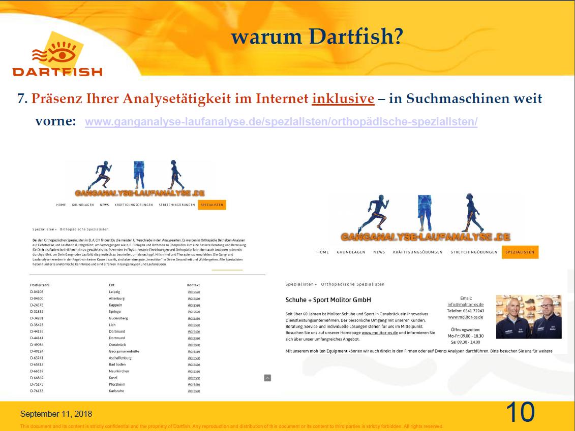 10.Präsenz Ihrer Analysetätigkeit im Internet inklusive – in Suchmaschinen weit