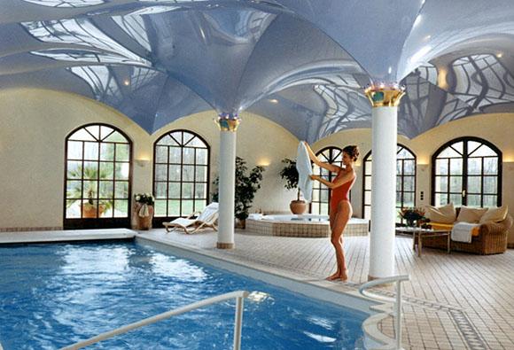 Lachspanndeck Schwimmbad Sonderform