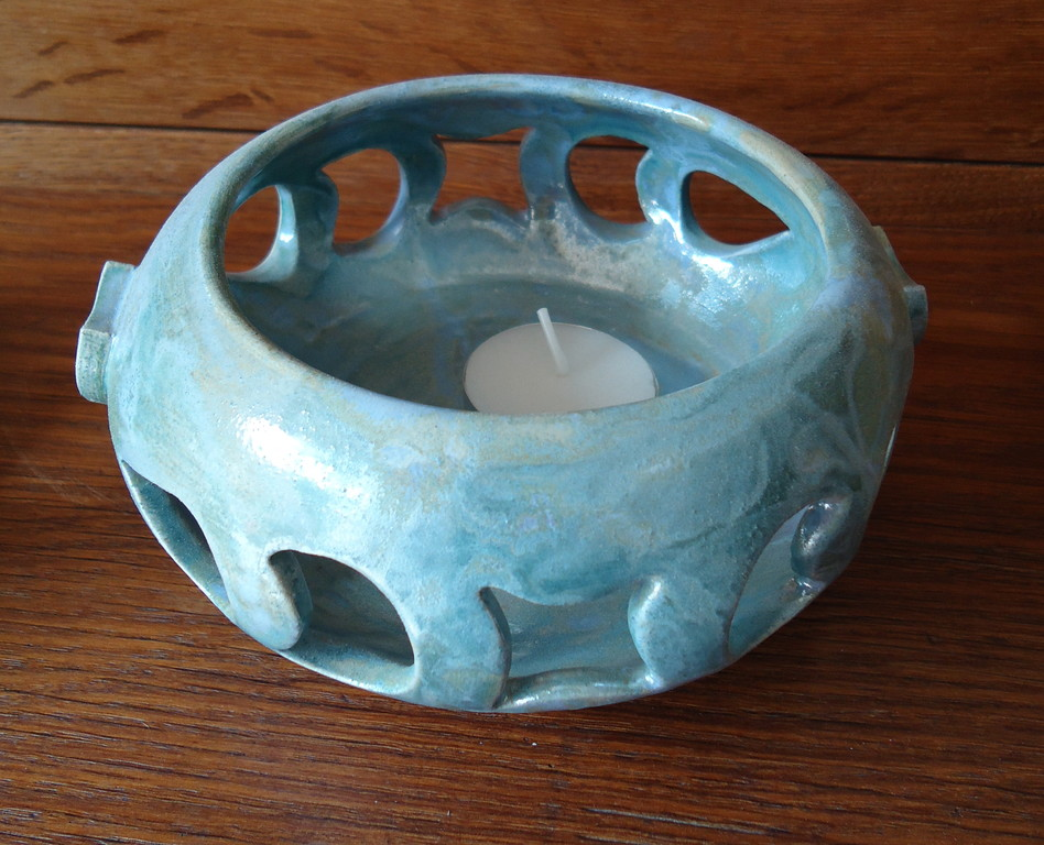 250)Teelichtschale, Druchm. ca. 12cm/Höhe 7cm, Preis 38.- Sfr.