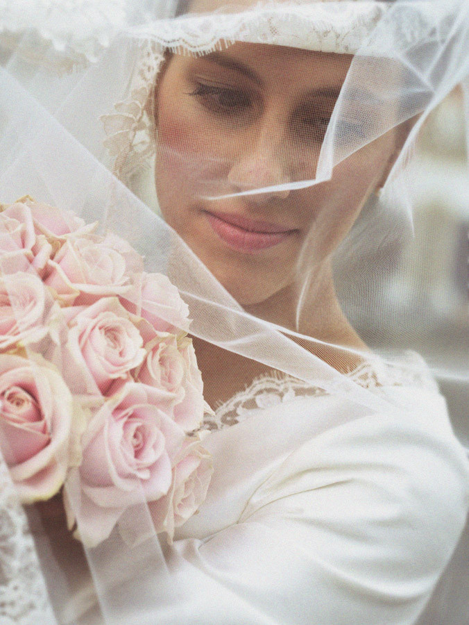 bruidsportret, sluier, fine art