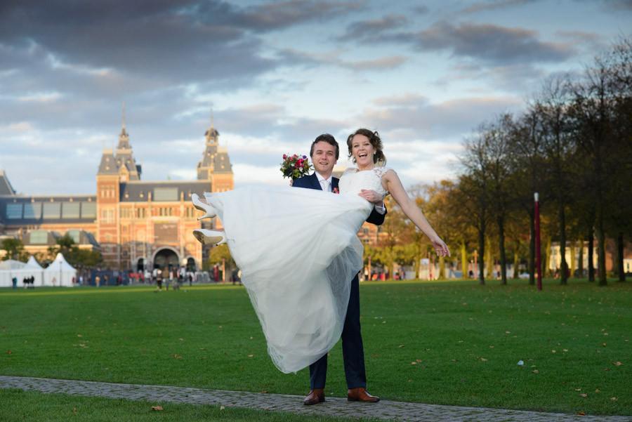 rijksmuseum, museumplein, trouwreportage, fotograaf