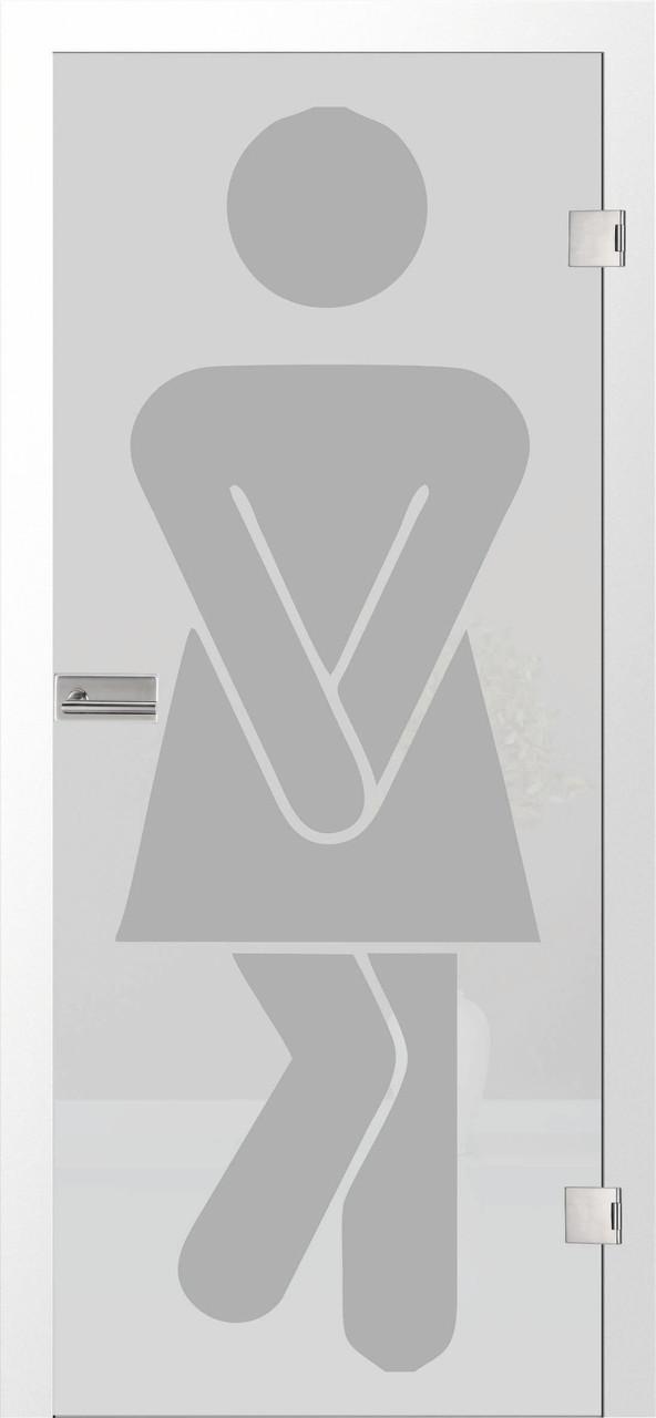 WC Damen 2 - Motiv matt, Fläche matt
