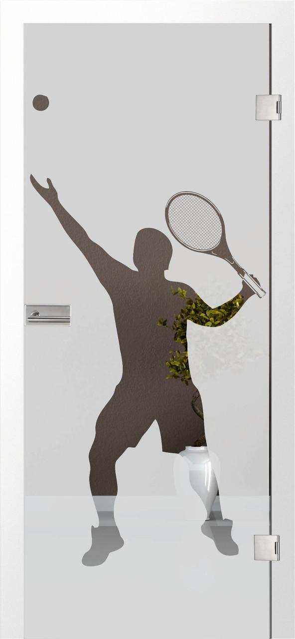 Tennis 3 - Motiv klar, Fläche matt
