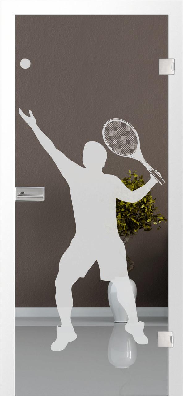 Tennis 3 - Motiv matt, Fläche klar