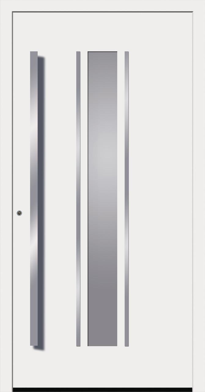 New York2: Seitenteil satiniert mit Klarglasausschnitt