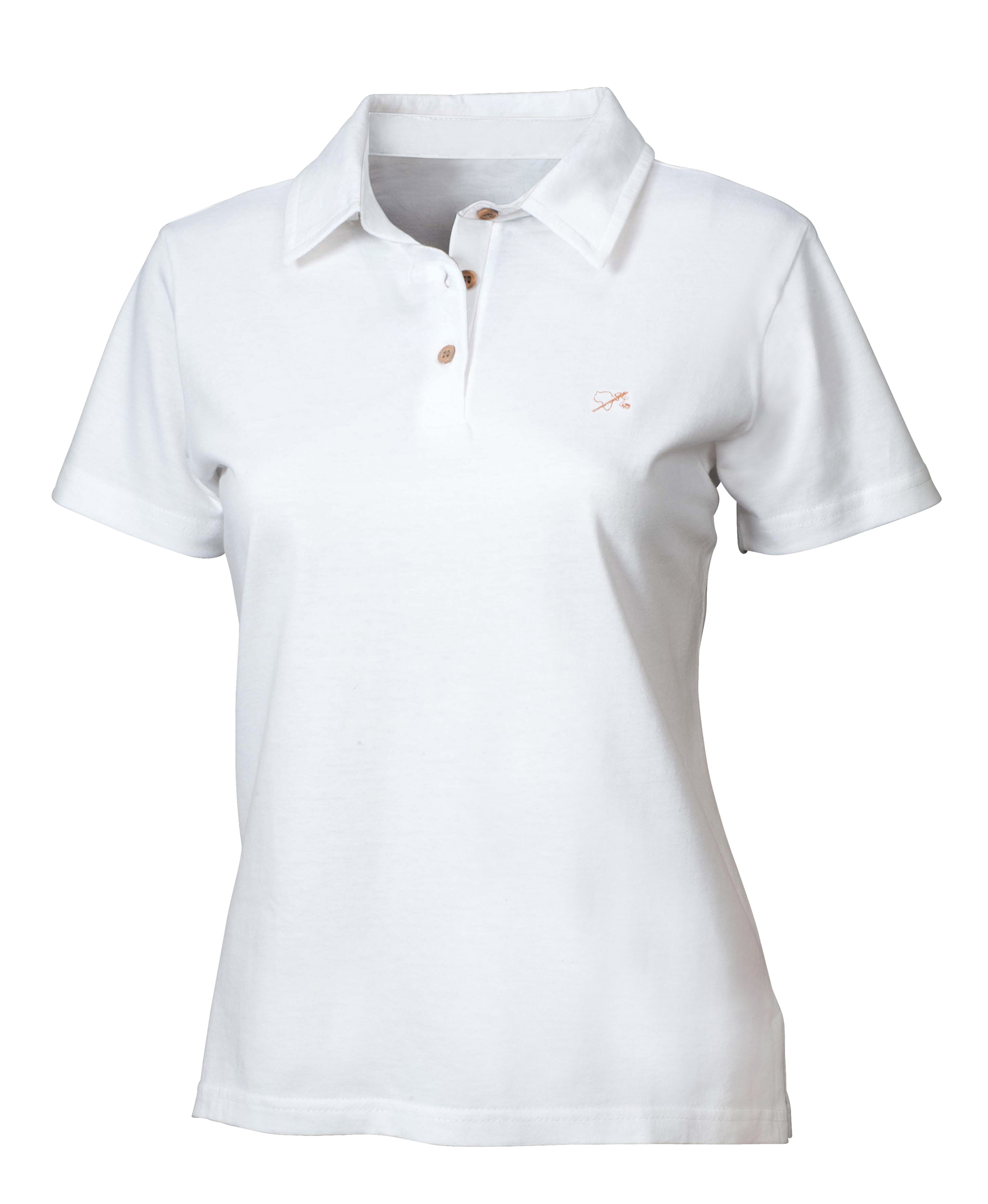 Polo-Hemd für Sie weiß