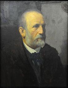 Porträt von Ludwig Willroider, gemalt von Anton Gregoritsch um das Jahr 1900