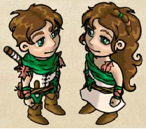 Druide und Druidin