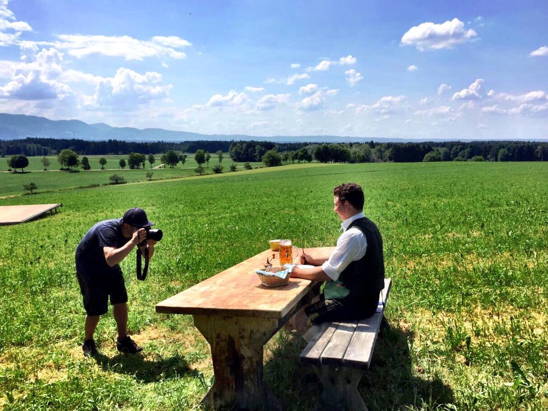 Dominik Schachten in Aktion bei de Lindntaler Lauterbach -Fotoshooting zum Gaufest 2018 in Lauterbach