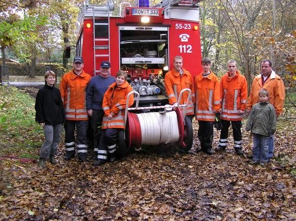 Und von der freiwilligen Feuerwehr Rotenburg geflutet