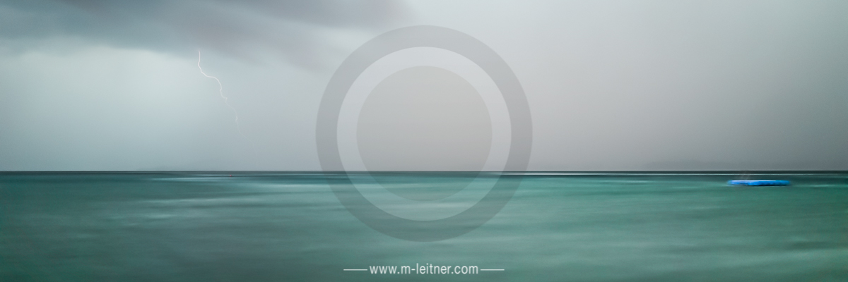 """""""the lake - storm II"""" - attersee - ART edition - size M - picture ID 1435-1 (3x1)"""