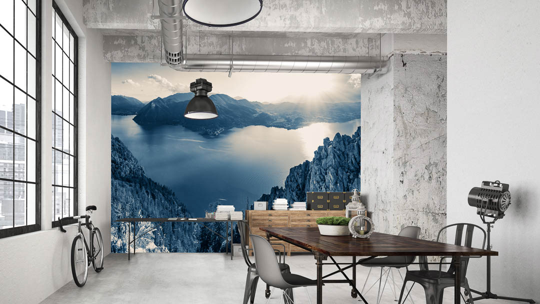 """XL-PHOTO Wallpaper """"view traunsee"""""""