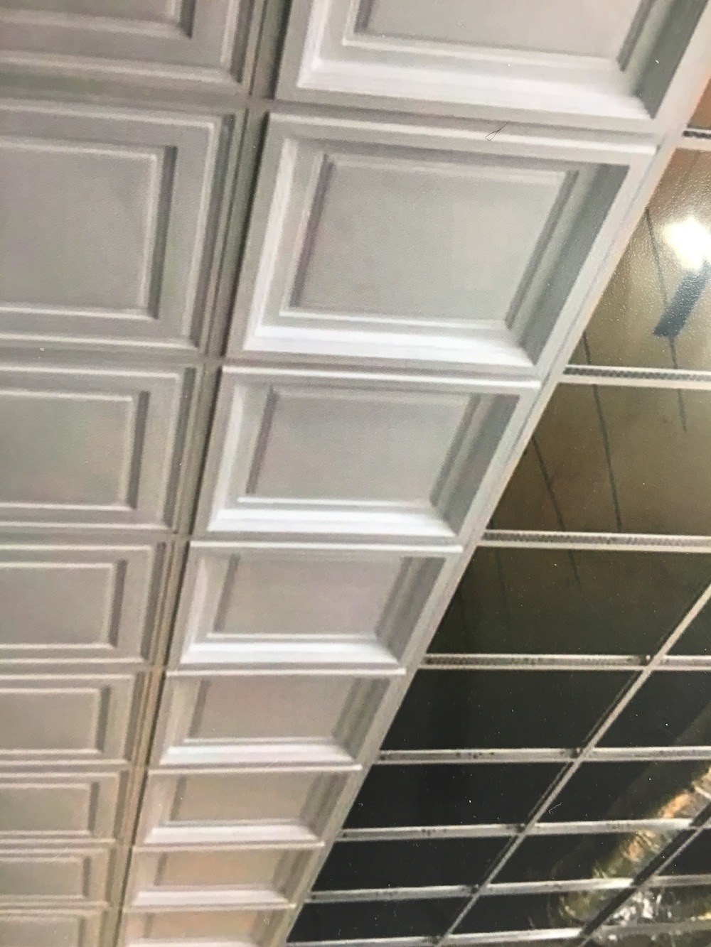 Ceiling view with AC/heating ducts showing, March 2017