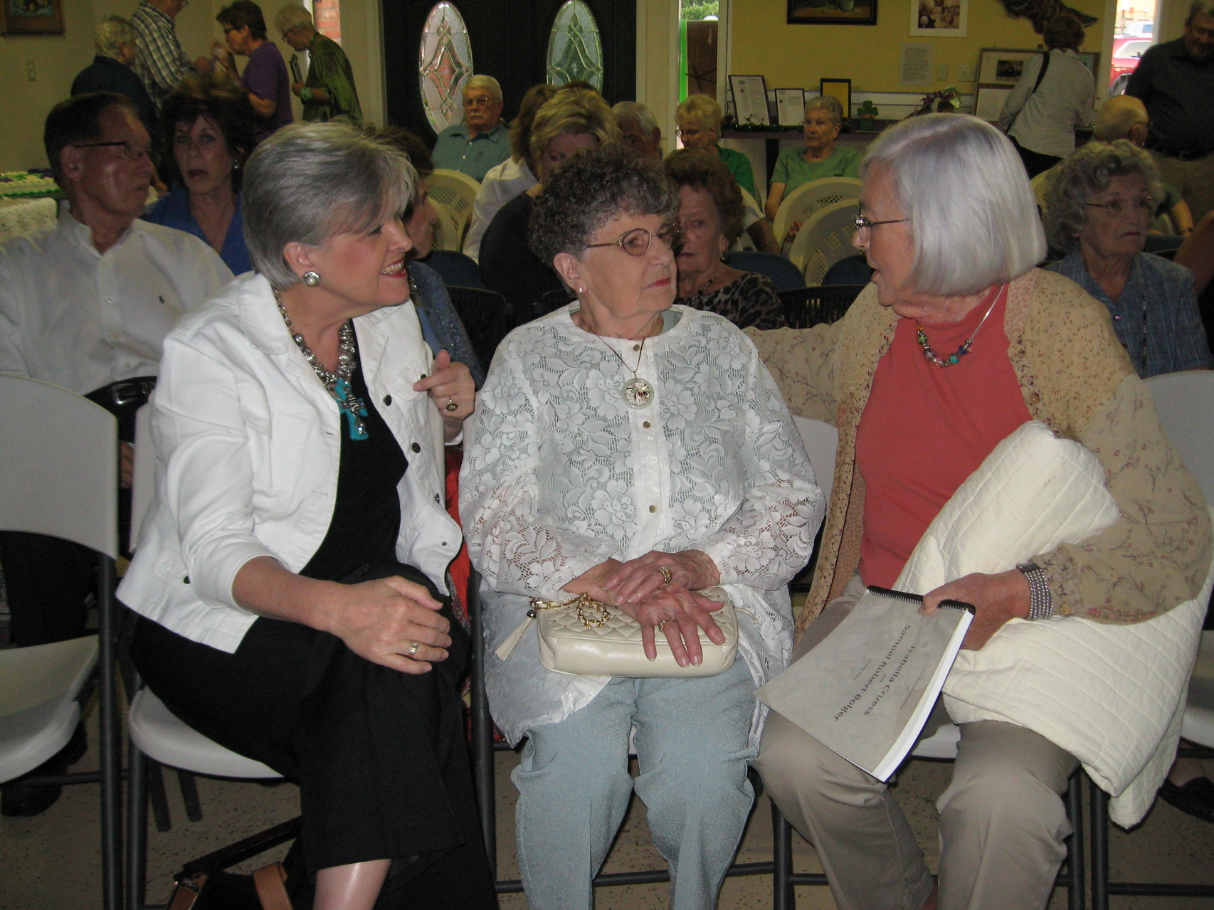 Beth Bolger, center, with Frankie Cooper and Marybelle Bolger, 2013