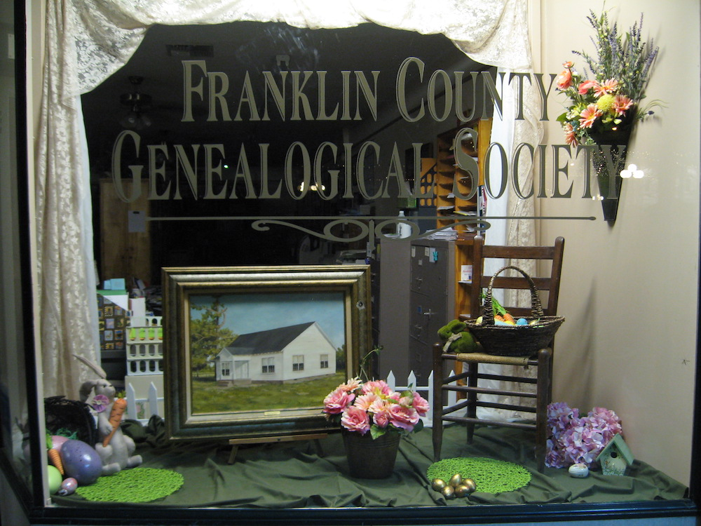 FCGS Easter display by Linda Hammond, March 2016