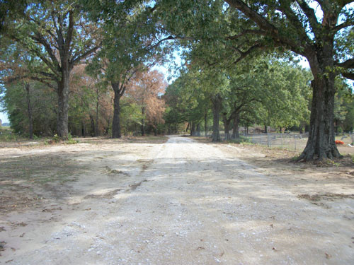 New road and parking area, Colliers Chapel Cemetery, Sept. 2011