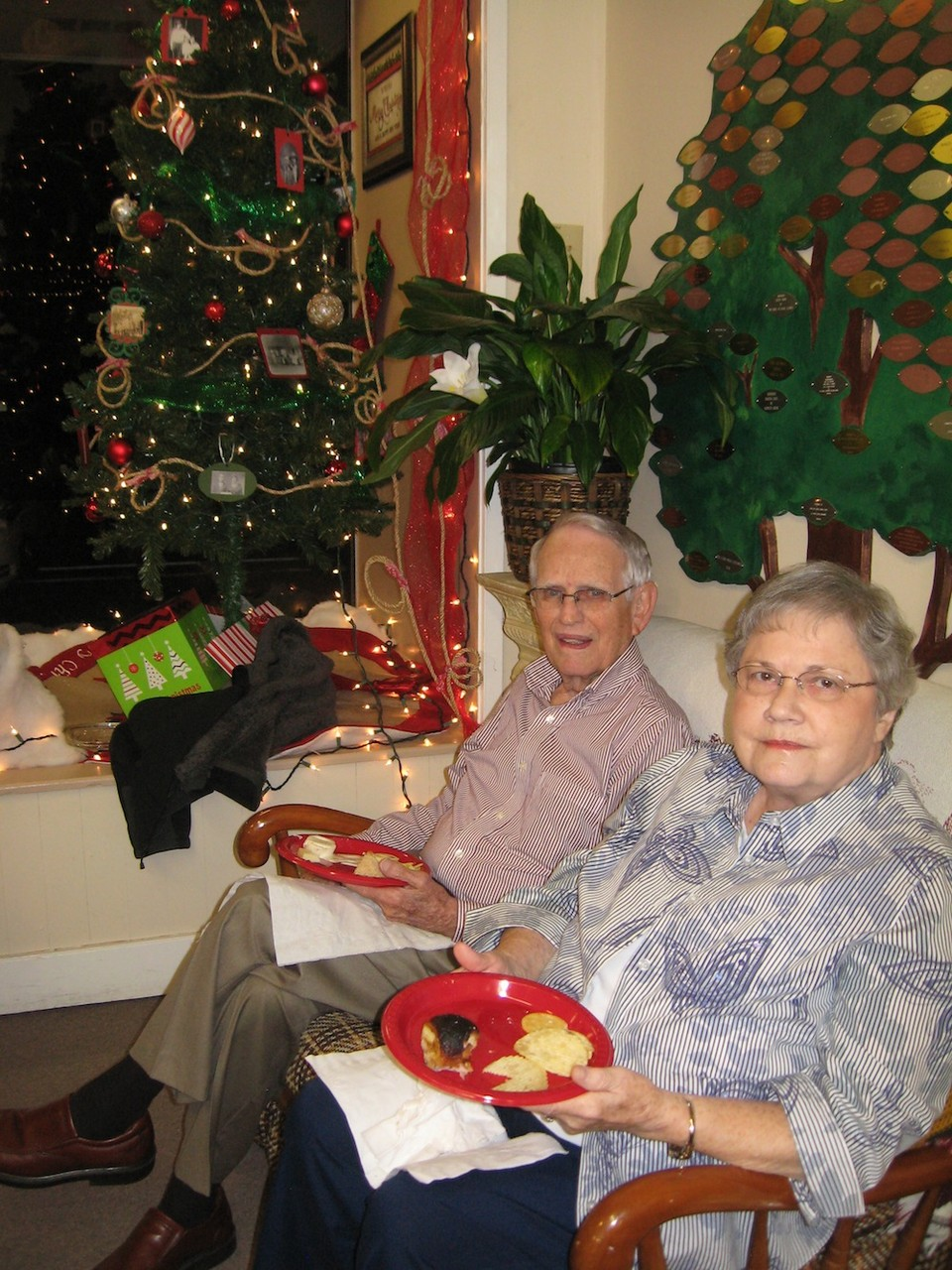Calvin and Kirleen Hiett, Christmas party 2015