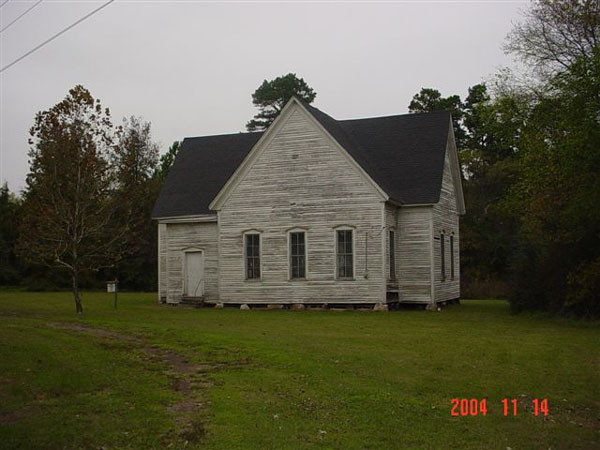 The front view of Hopewell Presbyterian Church, as seen in 2004.