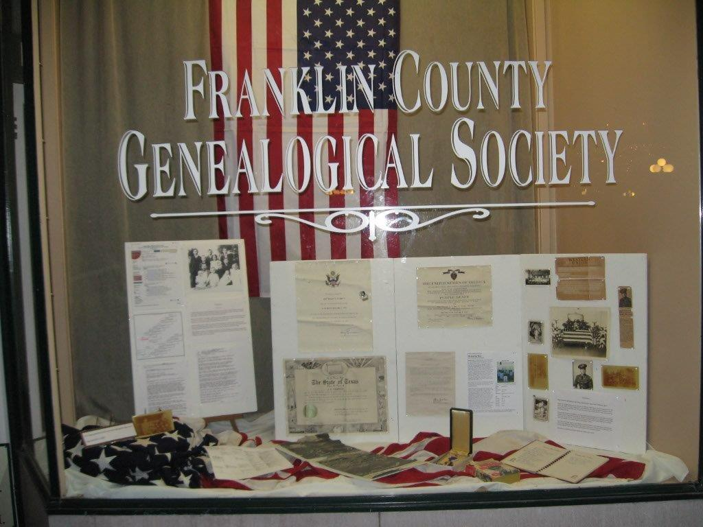 FCGS window Richard Hamrick's display, May 2016