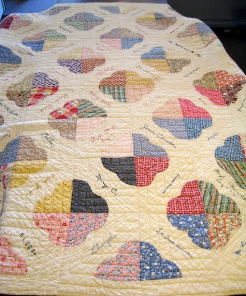 1935 quilt donated by Marybelle Bolger Tutt to FCGS