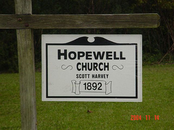 Hopewell Presbyterian Church, established in 1892