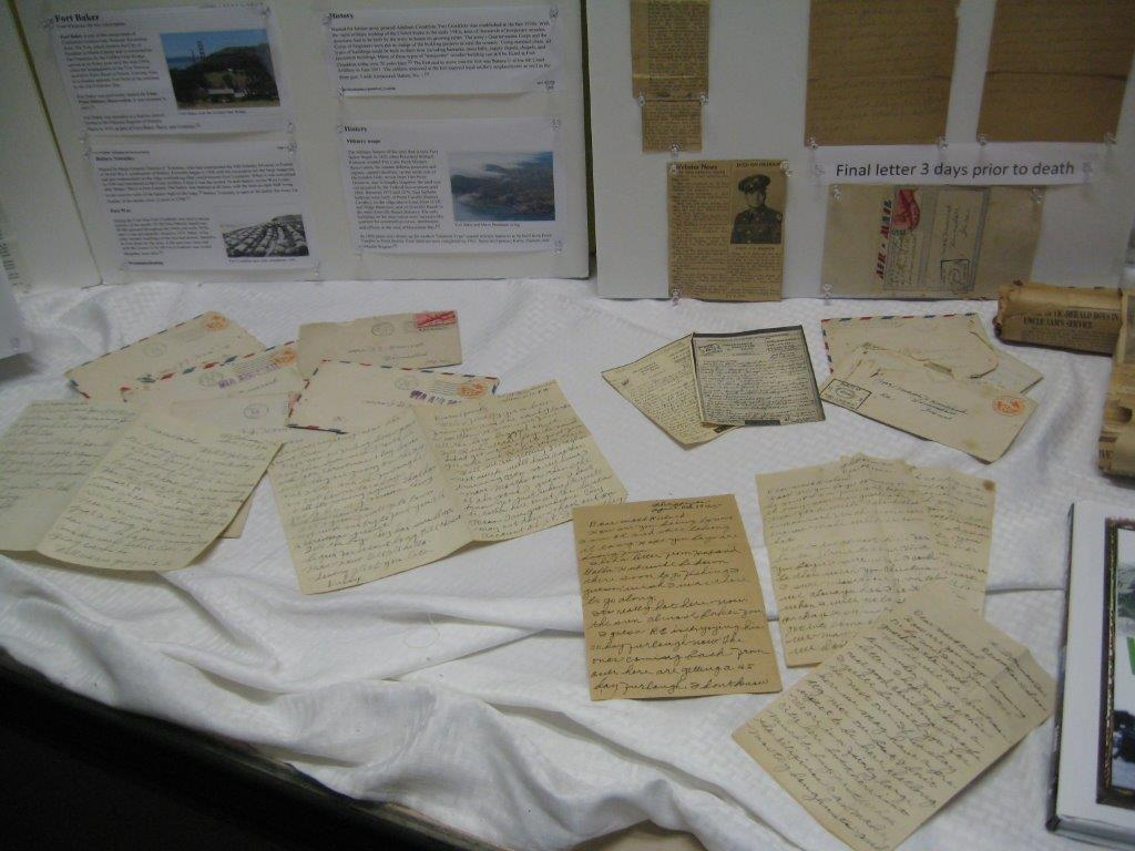 Hamrick memorabilia from WWII display, May 2016