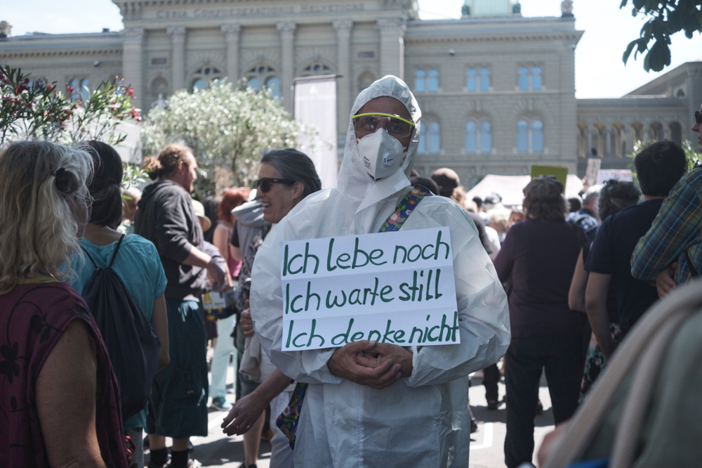 Demonstration in Bern gegen die Corona-Massnahmen, Mai 2020