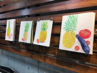 パイナップルと夏野菜