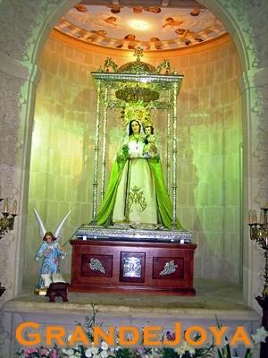 Placa montada en el camarin de la Virgen