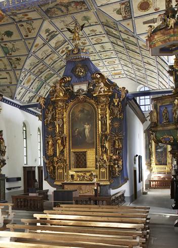 Loretokapelle mit Hochaltar und «Engelsfenster»