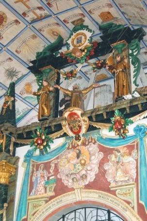 Die Stigmatisation des hl. Franziskus über der Marienkapelle