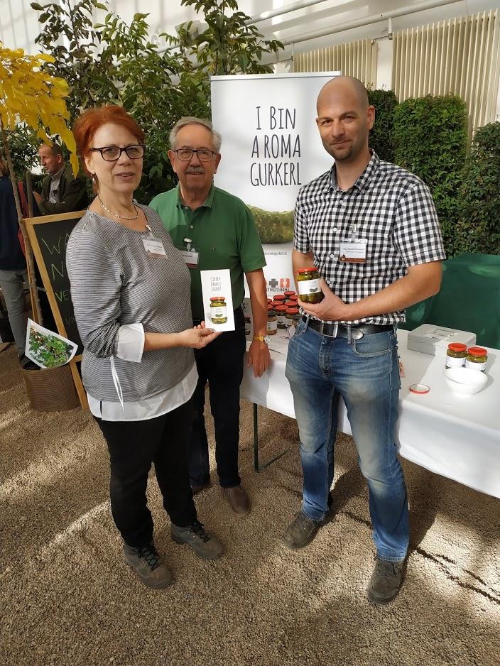 Frau DI Eva Thun-Täubert von der ÖGG und Hr. Ing Daniel Rohrauer von den Bundesgärten
