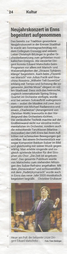OÖ Volksblatt, 14.1.2020